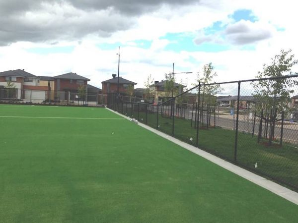 Chain link fencing for Sports